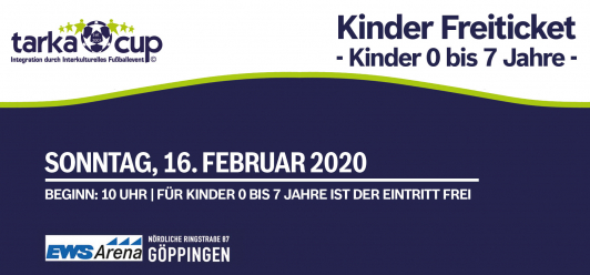 TarkaCup 2020 - Kinder-Frei Ticket